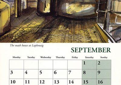 Laphroaig 2001 Calendar September