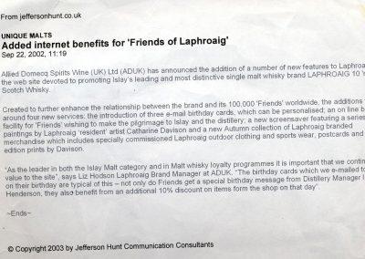 Laphroaig Publicity