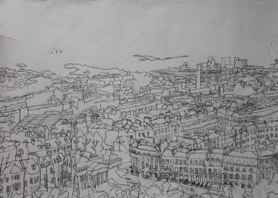 Line Drawing From Calton Hill